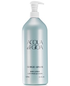 Receive an Acqua di Gioia Body Lotion for $22 with any $96 purchase from the Acqua di Gioia Fragrance Collection, Online Exclusive