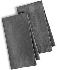 Linen 2-Pc. Modern Gray Napkins, Created for Macy's