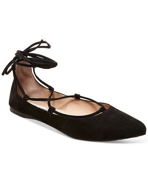 b1637f2cd58 Steve Madden Eleanorr Suede Lace-Up Flats   Reviews - Flats ...