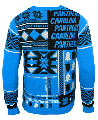 Forever Collectibles Mens Carolina Panthers Patches Christmas