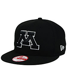 New Era Minnesota Golden Gophers Black White 9FIFTY Snapback Cap