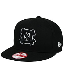 North Carolina Tar Heels Black White 9FIFTY Snapback Cap