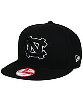 finest selection d235c be11c New Era North Carolina Tar Heels Black White 9FIFTY Snapback Cap