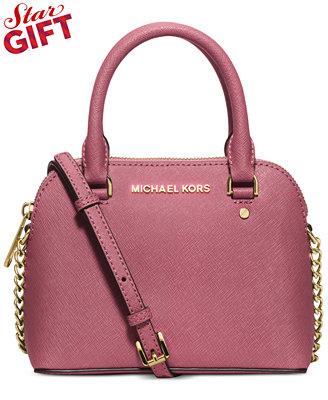 $106.39 MICHAEL Michael Kors Cindy Mini Crossbody On Sale @ macys.com