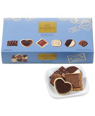 Godiva 23-Piece Assorted Chocolate Biscuit Gift Box