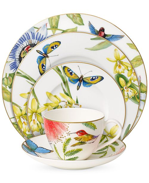 Villeroy Amp Boch Amazonia Collection Bone Porcelain 5 Pc Place Setting Amp Reviews Fine China