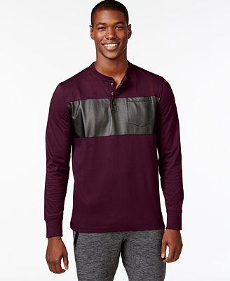 Sean john men 39 s coated panel t shirt t shirts men macy 39 s for Sean john t shirts for mens