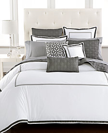 Hotel Collection Embroidered Frame Full/Queen Duvet Cover, Created for Macy's