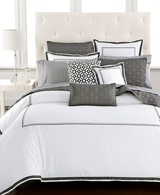 Hotel Collection Embroidered Frame Duvet Covers, Created ...