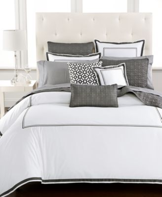hotel collection embroidered frame duvet covers created for macyu0027s