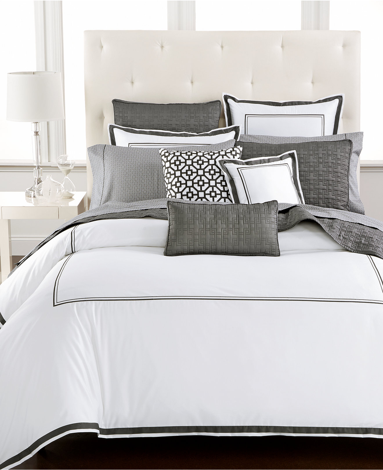 Ribbon embroidery bedspread designs - Hotel Collection Embroidered Frame Bedding Collection Only At Macy S