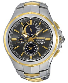 Men's Solar Chronograph Coutura Two-Tone Stainless Steel Bracelet Watch 44mm SSC376