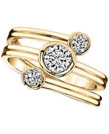 Sirena Energy Diamond Three-Row Ring (1/2 ct. t.w.) in 14k Gold
