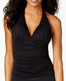 Lauren Ralph Lauren Slimming Fit Halter Tankini Top