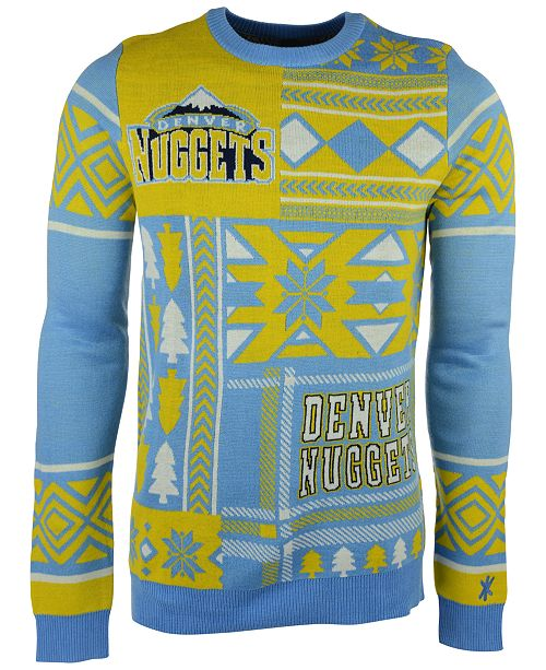 fbba1a266db ... Forever Collectibles Men s Denver Nuggets Patches Christmas Sweater ...