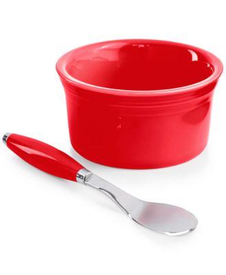 2-Piece Scarlet Dip Bowl and Spreader Set