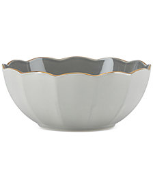 Marchesa by Lenox Dinnerware Ironstone Shades of Grey All-Purpose Bowl