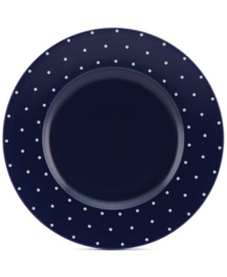 Larabee Dot Navy Collection Stoneware Dinner Plate