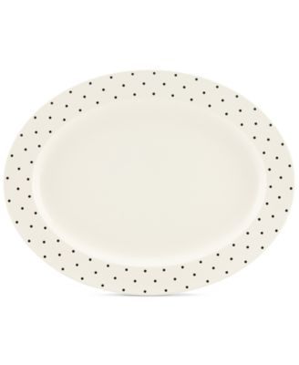 Larabee Dot Cream Collection Stoneware Serving Platter