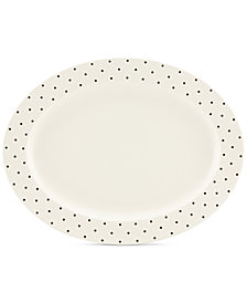 kate spade new york Larabee Dot Cream Collection Stoneware Serving Platter
