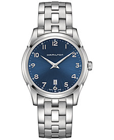 Hamilton Men's Swiss Jazzmaster Stainless Steel Bracelet Watch 42mm H38511143