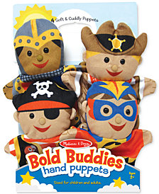 Melissa and Doug Kids' Bold Buddies Adventure Set Hand Puppets