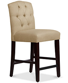 Jillian Tufted Arch Counter Stool, Quick Ship