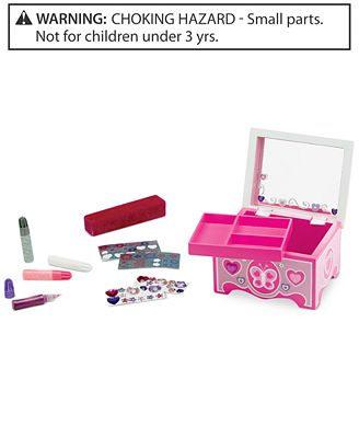 Melissa and Doug Kids' Decorate Your Own Jewelry Box Kit