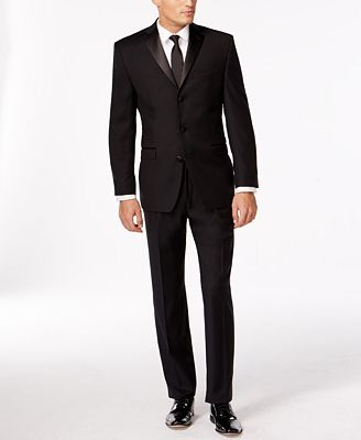 Calvin Klein Black Three-Button Slim-Fit Tuxedo