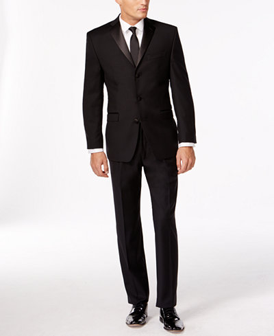 Calvin Klein Black Three-Button Slim-Fit Tuxedo