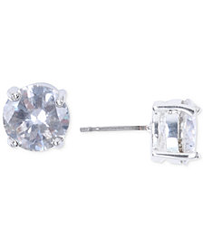 Nine West Silver-Tone Crystal Stud Earrings