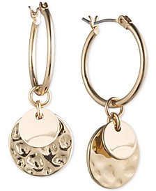 lonna & lilly Gold-Tone Multi-Disc Hoop Earrings