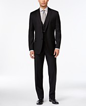360895bc3169 Calvin Klein Black Solid Big and Tall Modern Fit Suit Separates