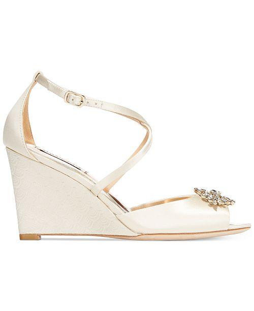 52d7f38d42e Badgley Mischka Abigail Evening Wedge Sandals   Reviews - Sandals ...
