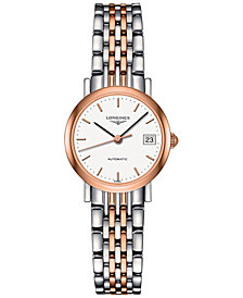 Longines Women's Automatic The Longines Elegant Collection Two-Tone Stainless Steel Bracelet Watch 26mm L43095127