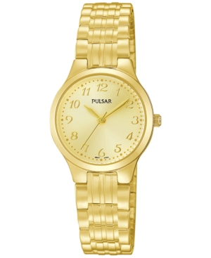 Pulsar Women's Gold-Tone Stainless Steel Bracelet Watch 25mm PG2034