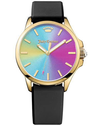 Juicy Couture Women's Jetsetter Black Silicone Strap Watch 38mm 1901343