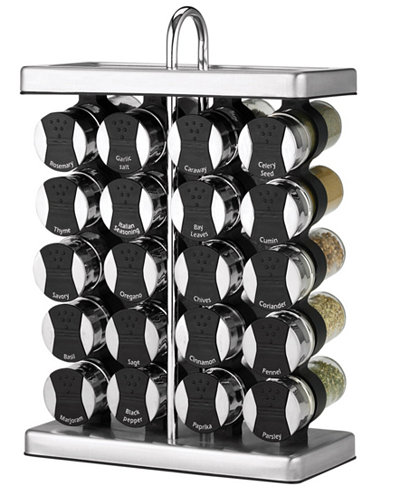 Martha Stewart Collection 21-Piece Space Saver Spice Rack Set, Only at Macy's,
