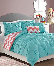 CLOSEOUT! Sophia Reversible 5-Piece Full/Queen Comforter Set