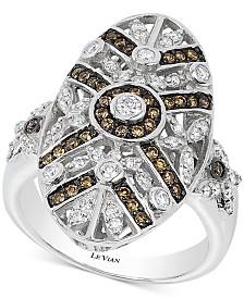 Le Vian Chocolatier® Chocolate Deco Estate™  Diamond (3/4 ct. t.w.)  ring in 14k White Gold