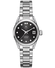Women's Swiss Automatic Carrera Calibre 9 Diamond (1/10 ct. t.w.) Stainless Steel Bracelet Watch 28mm