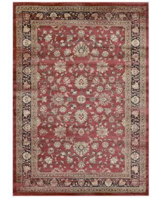 "CLOSEOUT! HARAZ HAR1443 Red 2' x 3'7"" Area Rug"