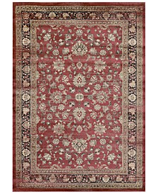 "CLOSEOUT! Couristan HARAZ HAR1443 Red 7'10"" x 11'2"" Area Rug"