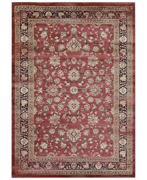 "Couristan CLOSEOUT! HARAZ HAR1443 Red 3'11"" x 5'3"" Area Rug"