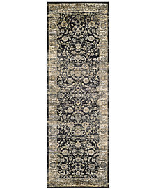 "CLOSEOUT! Couristan HARAZ HAR1142 Black 2'7"" x 7'10"" Runner Rug"