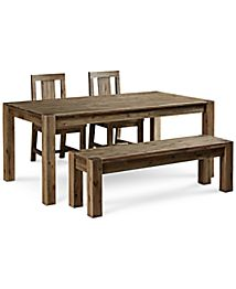 Canyon 6 Piece Dining Set Created For Macy S 72 Quot Dining