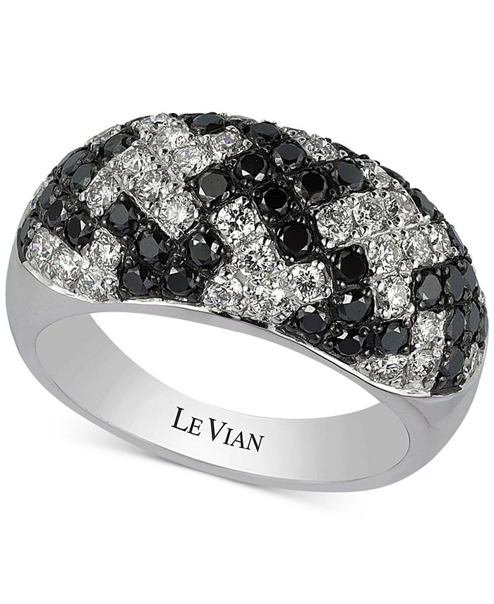 Le Vian - Diamond Houndstooth Pattern Ring (1-3/4 ct. t.w.) in 14k White Gold
