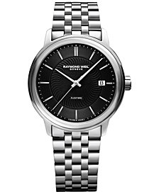 RAYMOND WEIL Men's Swiss Automatic Maestro Stainless Steel Bracelet Watch 40mm 2237-ST-20001