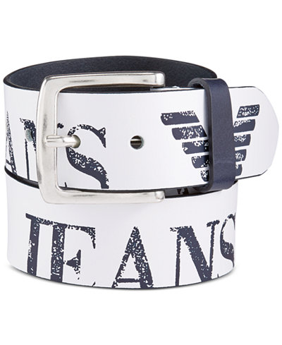 Armani Jeans Leather Belt - Accessories & Wallets - Men - Macy's