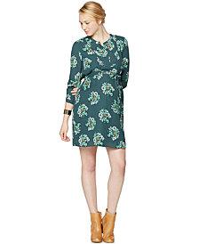 Collective Concepts Maternity Split-Neck Floral-Print Dress